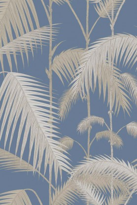 Cole & Son - Contemporary Restyled - Palm Jungle - Blue Ground & Grit