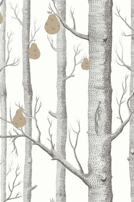 Cole & Son - Contemporary Restyled Collection - Woods & Pears Wallpaper - 3 Light Colours Available