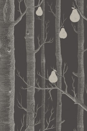 Cole & Son - Contemporary Restyled Collection - Woods & Pears Wallpaper - 3 Dark Colours Available
