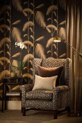 Cole & Son New Contemporary - Palm Leaves - Black & Gold