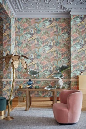 Cole & Son - Icons Collection - Miami Wallpaper - 2 Colours Available