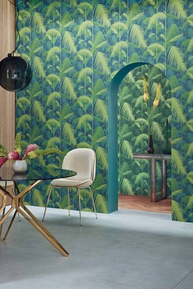 Cole & Son - Icons Collection - Palm Jungle Wallpaper - 4 Colours Available