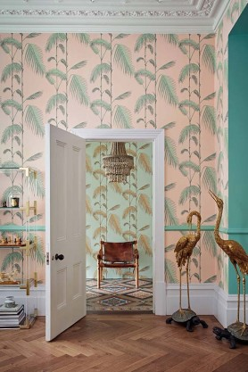 Cole & Son - Icons Collection - Palm Leaves Wallpaper - 4 Colours Available