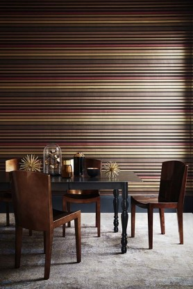Cole & Son - Marquee Stripes Collection - Carousel Stripe Wallpaper - Rouge Red