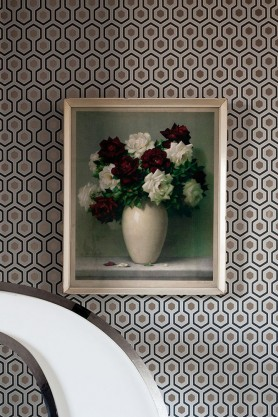 Cole & Sons -  Contemporary Restyled - Hicks' Hexagon Wallpaper - 3 Colours Available