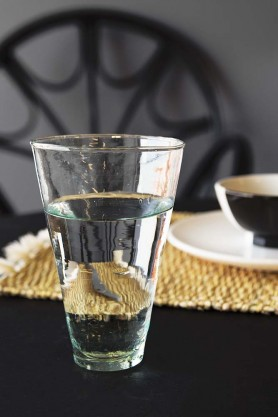 Conical Recycled Moroccan Glass Highball