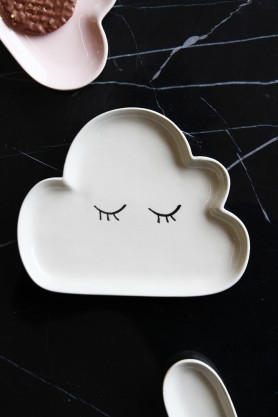 Cumulus Cloud Plate - White