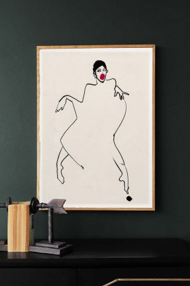 Dancer 02 Unframed Art Print by Amelie Hegardt