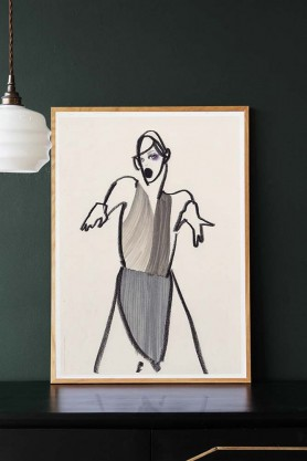Dancer 03 Unframed Art Print by Amelie Hegardt