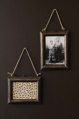 Hanging Brass Picture Frame