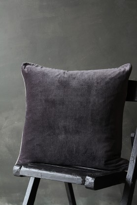 Luxury Velvet Cushion - Slate Grey