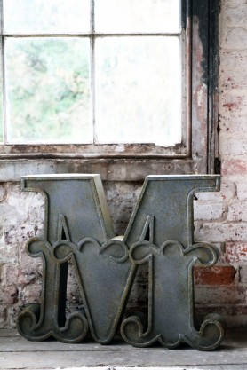 Decorative Distressed Metal Letters - M