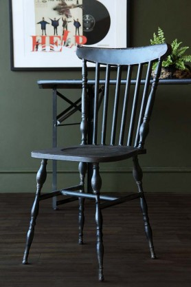 Distressed Metal Vintage Dining Chair