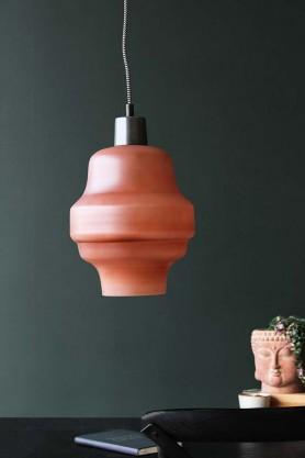 Dusky Pink Glass Bell Pendant Light