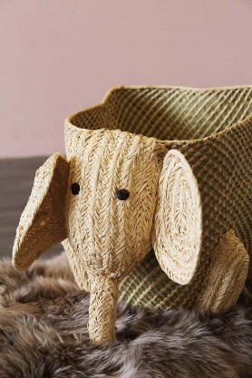 Woven Storage Animal - Elephant