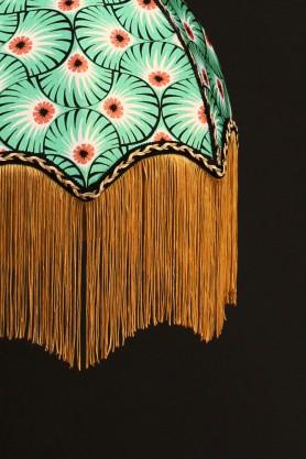 DecoFabulous Green & Orange Palm Print Lamp Shade