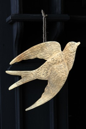 Gold Metal Bird Decoration