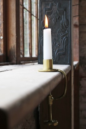 Gold Clamp Candle Holder