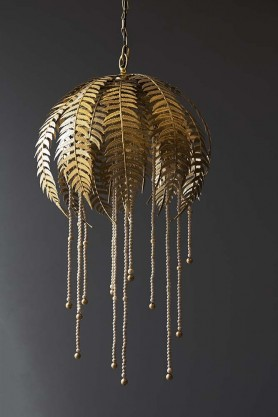 Gold Fern Leaf Pendant Light