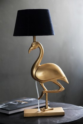 Metal Gold Flamingo Table Lamp