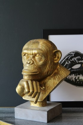 Golden Monkey Bust