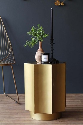 Gold Octagon Star Side Table