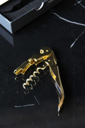 Belmont Gold Plated Corkscrew Bottle Opener
