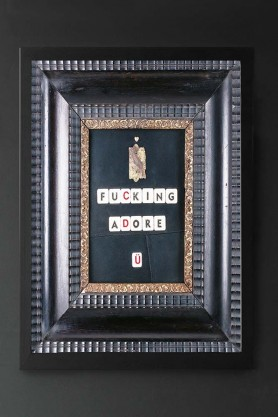 I Fucking Adore U Art Print With Printed Frame