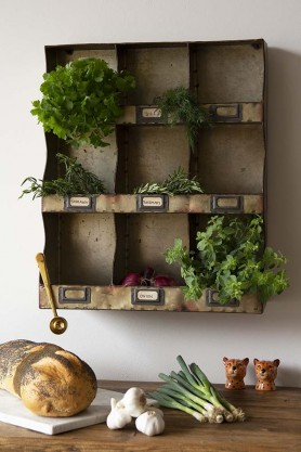 Industrial Style Pigeon Hole Shelf Unit