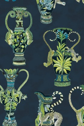 Cole & Son - The Ardmore Collection - Khulu Vases Wallpaper - 4 Colours Available