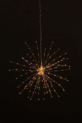 Large Pretty Wire Starburst Light Copper