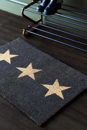 Large Triple Star Doormat