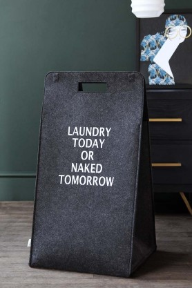 Laundry Today Or Naked Tomorrow Laundry Bag
