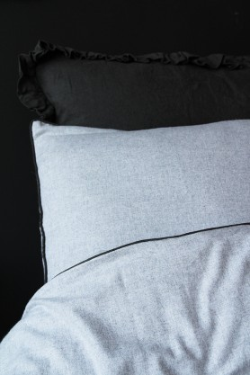 Vancouver Soft Brushed Cotton Duvet Cover - Grey/Slate