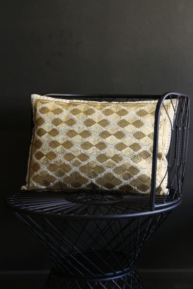 Marrakech Diamonds Cushion Rectangle Gold Metallic