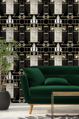 Mind The Gap Wallpaper Collection - Metropolis Collection - Glamour - Dark