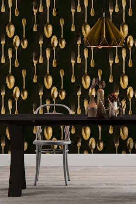 Mind The Gap Wallpaper Collection - The Antiquerian - Cutlery - Brass