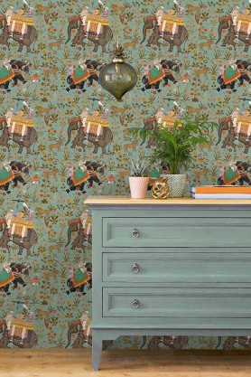 Mind The Gap Wallpaper Collection - The Mysterious Traveler - Hindustan - Aquamarine