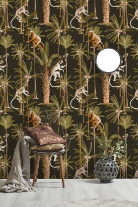 Mind The Gap Wallpaper Collection - The Rediscovered Paradise - Barbados - Anthracite