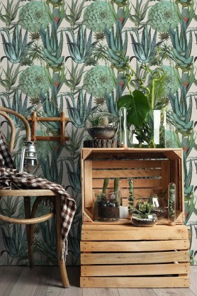 Mind The Gap Wallpaper Collection - The Rediscovered Paradise - Succulents