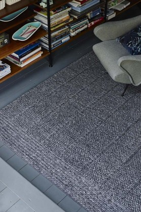 Mosiac 01 Rug - Tarmac - Available in 3 Sizes