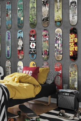 Lifestyle image of Mr Perswall Wallpaper - Adventure Collection - Line Up Skateboards
