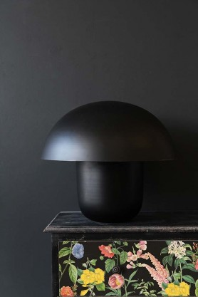 Mushroom Table Lamp - Black