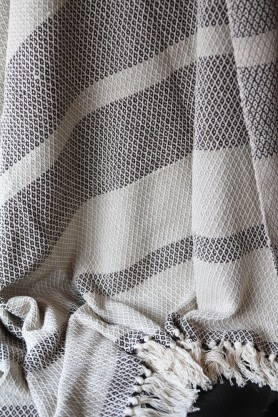 Natural Cotton Diamond Throw