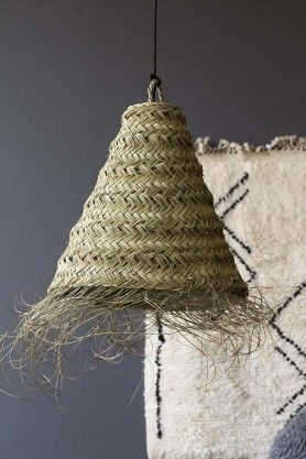 Handmade Moroccan Natural Straw Lamp Shade - 45cm Cone
