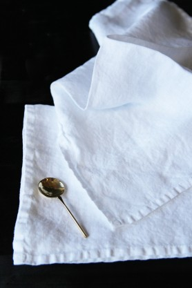 Linen Napkin Set - White
