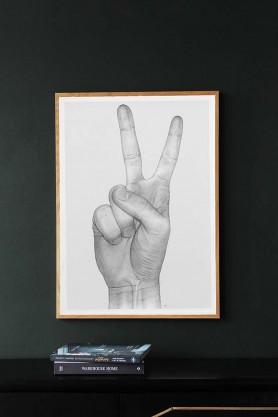 Peace Hand Unframed Art Print by B Bredenbekk