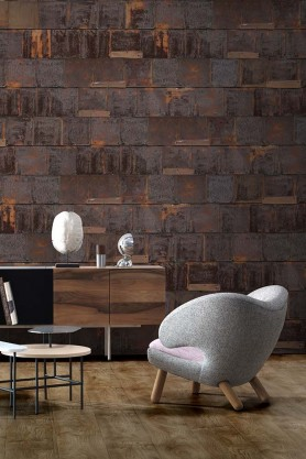 NLXL Lab Rusted Metal Wallpaper by Piet Hein Eek - Brown