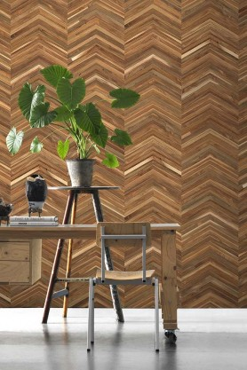 NLXL TIM-06 Timber Strips Wallpaper Collection by Piet Hein Eek