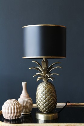 Gold Pineapple Table Lamp with Metal Shade